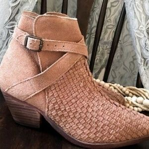 Free People / Venture Woven Leather Ankle Boot